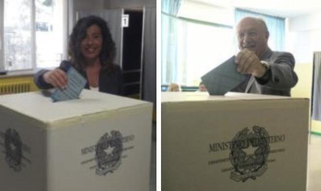 Stefania Signorini e Marco Luchetti, i due sfidanti al ballottaggio di Falconara Marittima