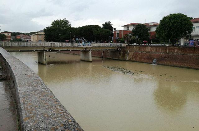 Il fiume Misa di Senigallia dopo il maltempo