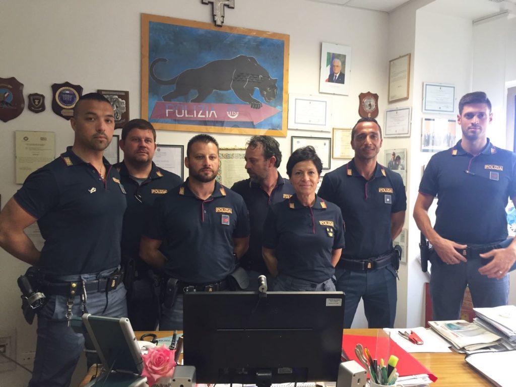 Da sinistra: Simone Cingolani, Diego Ravarelli, Marco Cropo, Pietro Golia, Cinzia Nicolini, Benedetto Fanesi, Andrea Fioretti
