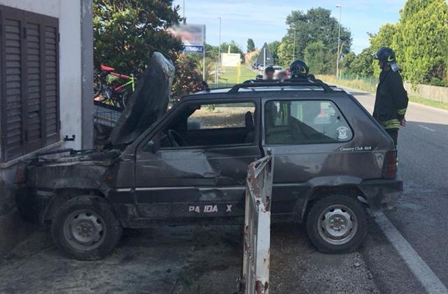 L'incidente avvenuto a San Filippo sul Cesano
