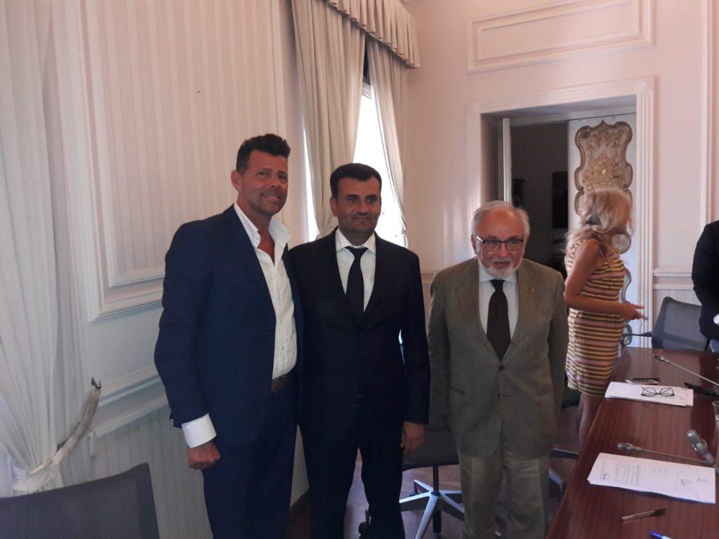 Nella foto: da sin. Maurizio Mangialardi, Antonio Decaro, Marcello Bedeschi