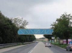 Rendering del sovrappasso a Torrette, tra il parcheggio di via Metauro e l'Ospedale Regionale