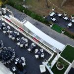 La terrazza ristorante del Raffaello Hotel di Senigallia