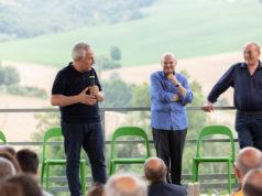 Enrico Loccioni, Bruno Garbini e Giovanni Fileni progetto Arca