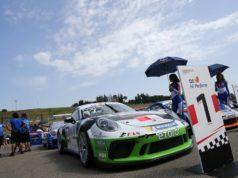 Enrico Fulgenzi in pista col suo nuovo team al Mugello