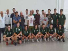 I nuovi arrivi del Campetto con una delegazione della squadra presente e dell'U18