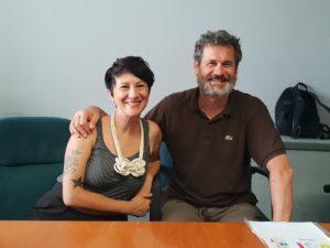 Gaia Segattini, direttore artistico di Weekendoit, e Paolo Marasca, assessore alla Cultura