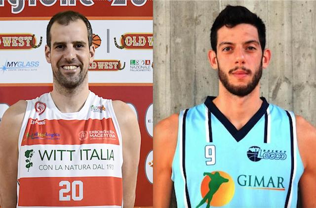 Santiago Boffelli (ala, 196 centimetri, 35 anni) e Ivan Morgillo (pivot, 206 centimetri, 26 anni): gli ultimi acquisti della Janus Fabriano