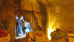 Il set nel Bastione Sangallo di Porta Marina a Loreto