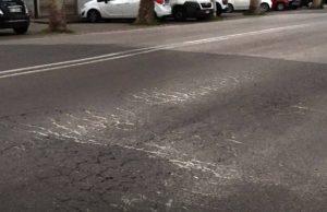 I cedimenti in viale della Vittoria a Jesi