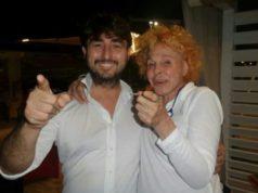 Ornella Vanoni con Vanni Zannini de La Vela Beach di Falconara