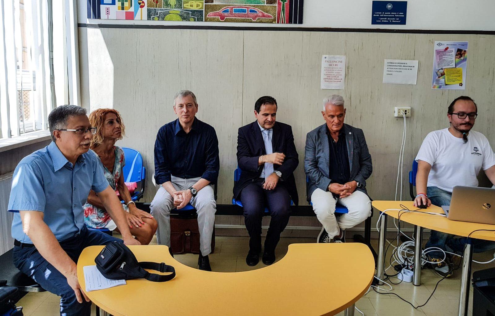 Da sinistra Carlo Rossi, Silvia Faggi, Corrado Marri, Marco Gnocchini, Michele Caporossi e Samuele Canonico