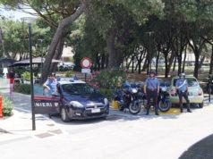 Controlli dei Carabinieri di Senigallia ai giardini Morandi