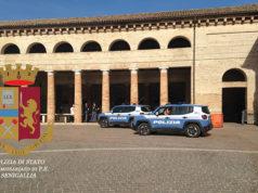 I controlli della Polizia al Foro Annonario di Senigallia