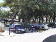 I carabinieri ai giardini Morandi