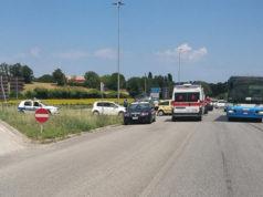 L'incidente avvenuto a Borgo Catena, frazione di Senigallia