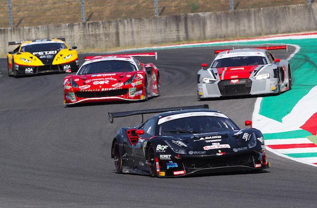 La Ferrari 488 Gt3 di Daniel Mancinelli al Mugello
