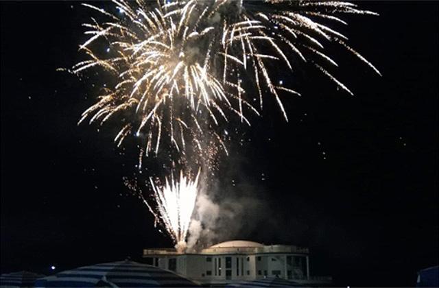 I fuochi d'artificio a Senigallia per la Notte della Rotonda 2018