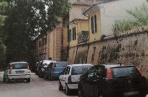I parcheggi nell'area dell'ex pesa pubblica di Senigallia