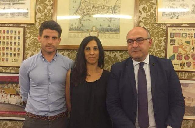 I consiglieri di Ostra Vetere Andrea Santini, Giuseppina Codias e Massimo Bello
