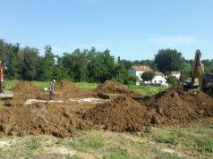 I lavori e gli scavi per la campagna archeologica in via Nevola, a Corinaldo