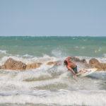 Surf sul mare a Senigallia
