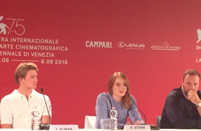 Emma Stone in conferenza stampa