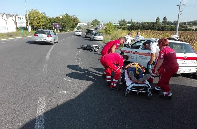 L'incidente lungo la statale