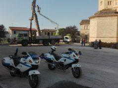 La situazione di fronte al santuario di Campocavallo di Osimo