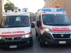 Alcune ambulanze della Croce Rossa Italiana, comitato di Senigallia