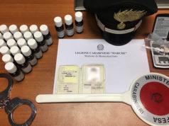 La droga sequestrata allo spacciatore arrestato dai Carabinieri ad Ancona