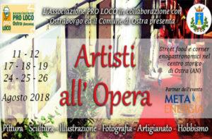 """Locandina di """"Artisti all'opera"""" a Ostra"""