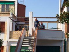 La polizia nella villetta