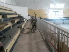 L'interno della vecchia piscina di Fabriano