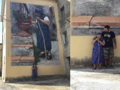 Il murales a Cacciano
