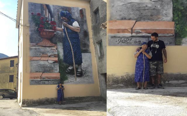 Cacciano, un muro che racconta la vita di un paese