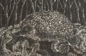 Un'opera dell'incisore Enzo Bellini