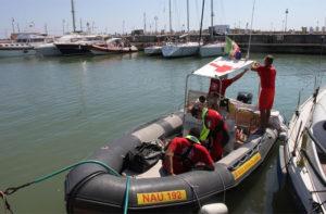I volontari della CRI Senigallia addetti al soccorso in mare (OPSA)