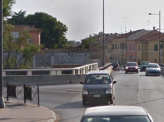 ponte Portone e l'incrocio con lo stradone Misa