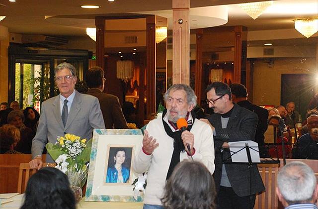 Una delle precedenti edizioni del Premio letterario Patrizia Brunetti. Da sinistra: Camillo Nardini, Giuseppe Di Mauro, Mauro Pierfederici