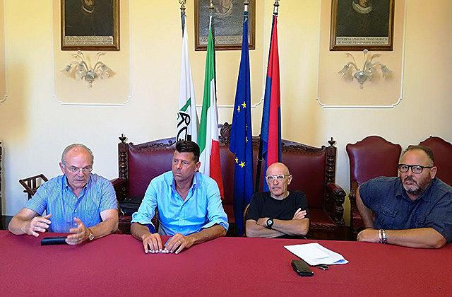 Da sinistra Vichi, Mangialardi, Volpini e Corinaldesi