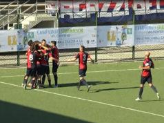 L'esultanza dell'Fc Vigor Senigallia per il goal di Giobellina