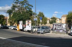Porta Mazzini e il parcheggio della pesa a Senigallia