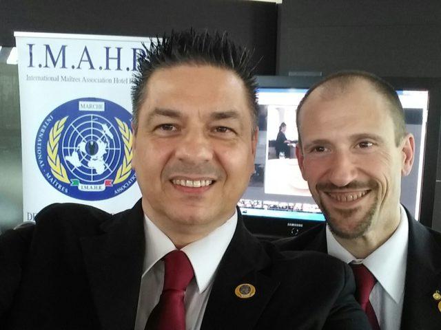 Da destra, Cristiano Giambenedetti e Sergio Marini Grassetti di Imahr Marche