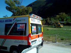 L'arrivo dei soccorsi sul luogo dell'incidente