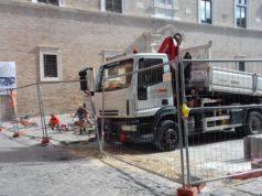 I lavori in piazza Colocci a Jesi
