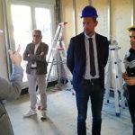 La visita nel cantiere alla Cesanella di Senigallia