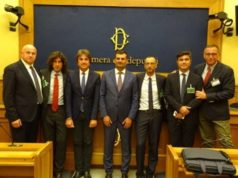 Il presidente dell'Anci Nazionale Decaro con Matteo Ricci sindaco di Pesaro, Vice Presidente Anci a Montecitorio (Foto: Anci Marche)