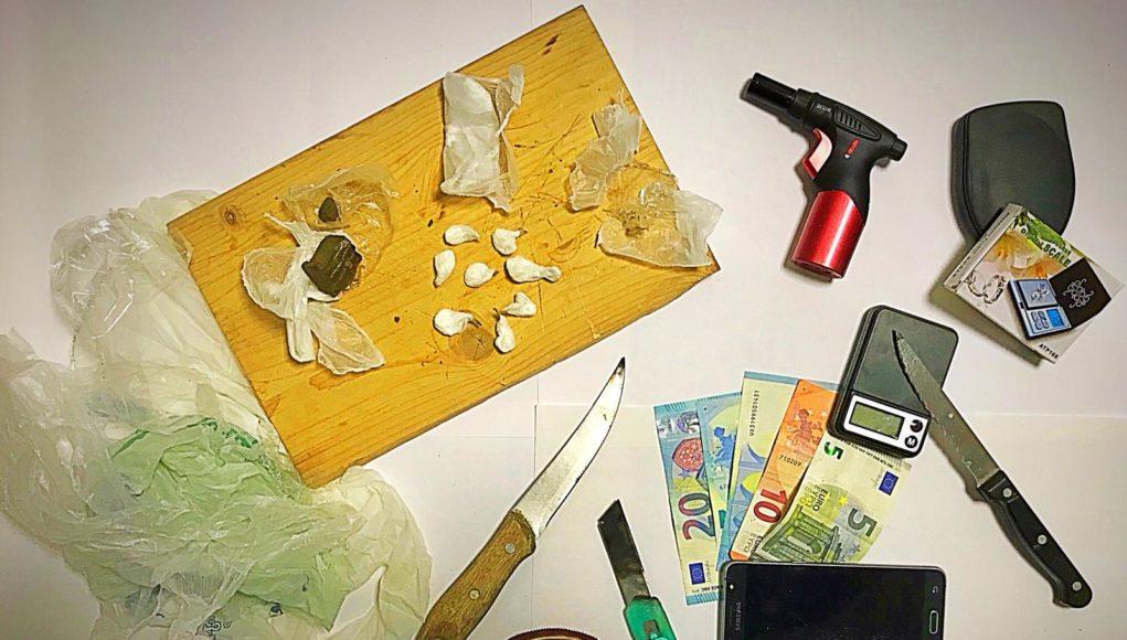 La droga sequestrata all'egiziano