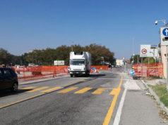 I lavori per la nuova rotatoria alla Cesanella di Senigallia